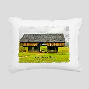 CadesCoveBarn_7X5_frame Rectangular Canvas Pillow
