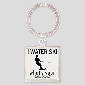 waterski Square Keychain