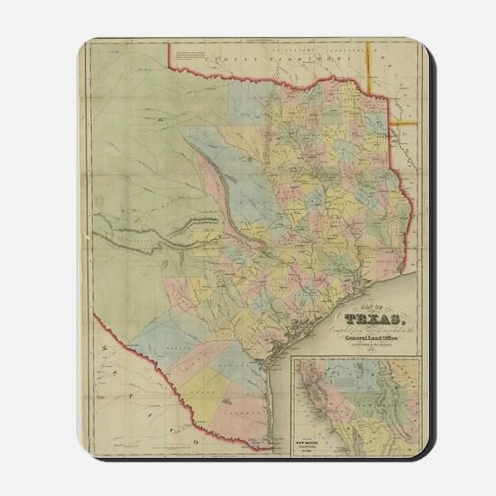 1851 Map of Texas Mousepad
