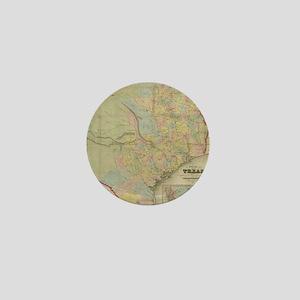 1851 Map of Texas Mini Button
