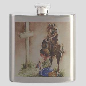 Cowboy praying Flask