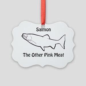 Salmon_light Picture Ornament