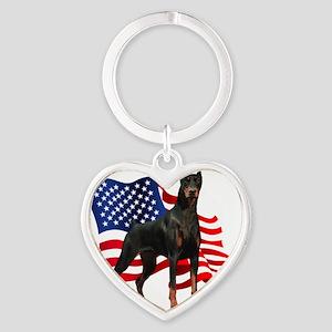 flag Heart Keychain