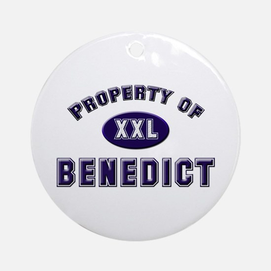 Property of benedict Ornament (Round)