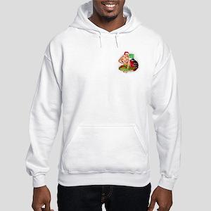 Hula Hotties Cafe Hooded Christmas Sweatshirt