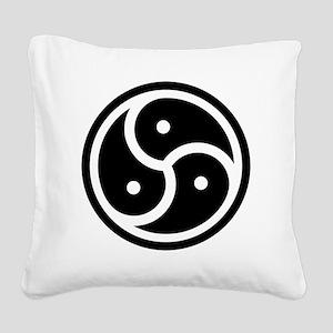 triskelion Square Canvas Pillow