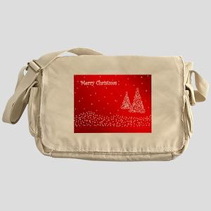 Red Merry Christmas Messenger Bag