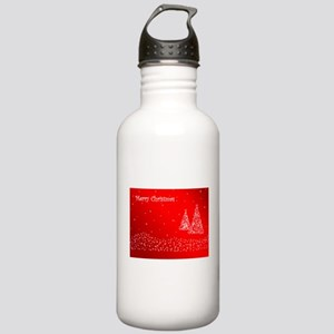 Red Merry Christmas Water Bottle