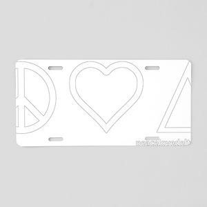 pld_notext_white Aluminum License Plate