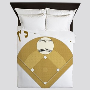 Lets Play Two Baseball T-Shirts and Gi Queen Duvet