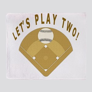 Lets Play Two Baseball T-Shirts and  Throw Blanket
