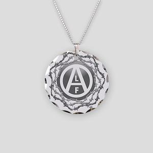 alf-black-02 Necklace Circle Charm