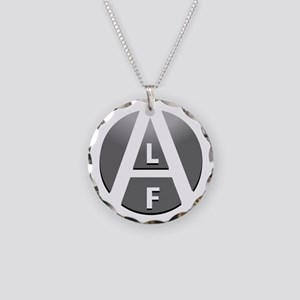 alf-white-03 Necklace Circle Charm