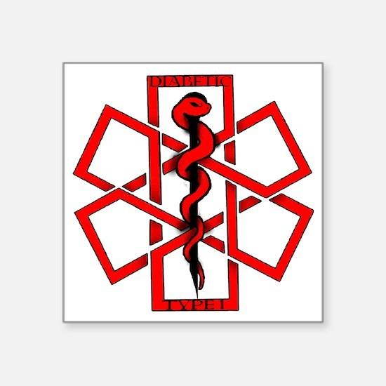 "Diabetic1 Square Sticker 3"" x 3"""