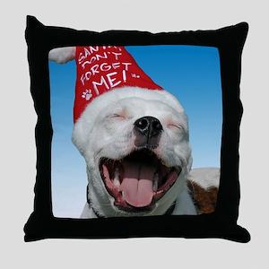 JOY Christmas Card Outside Final Throw Pillow