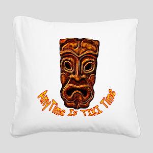 TikiTime Square Canvas Pillow