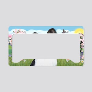 LIC-Blossoms-Papillon 1 License Plate Holder