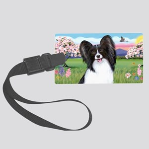 LIC-Blossoms-Papillon 1 Large Luggage Tag