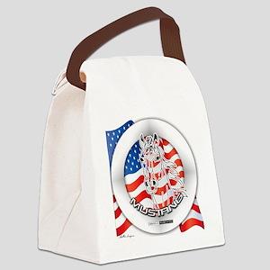 MUSTANGHORSELOGOROUND2 Canvas Lunch Bag