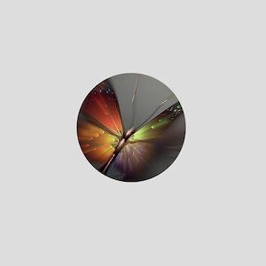 Multicolored Butterfly Mini Button