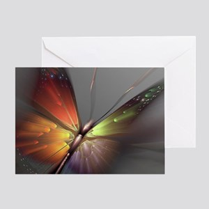 Multicolored Butterfly Greeting Card