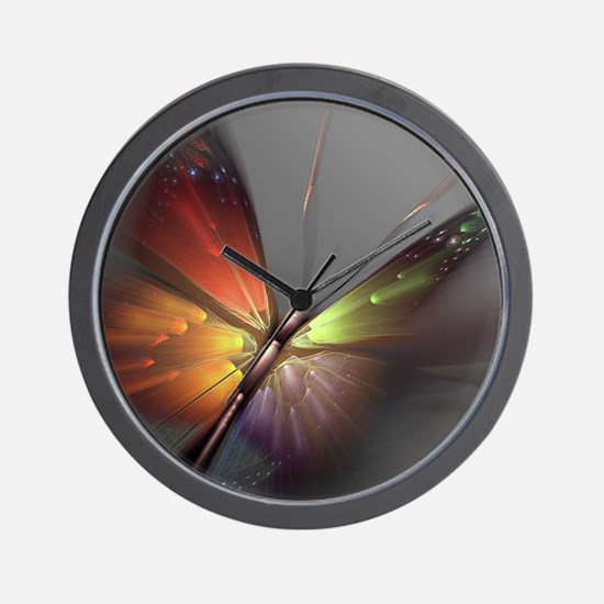 Multicolored Butterfly Wall Clock