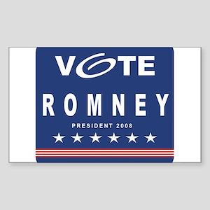 Vote Romney Rectangle Sticker