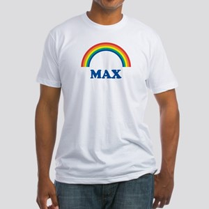 MAX (rainbow) Fitted T-Shirt