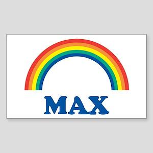 MAX (rainbow) Rectangle Sticker