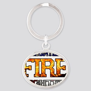 Volunteer FD 1 Oval Keychain