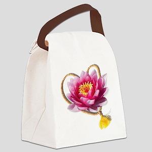Yogic Heart Flower 6x6 Canvas Lunch Bag