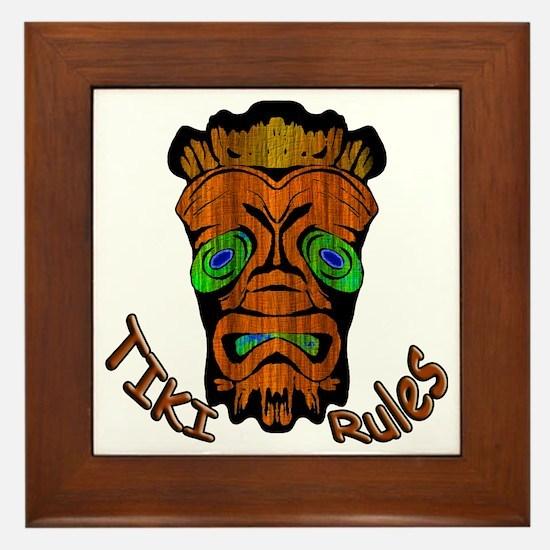 TikiRules Framed Tile