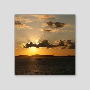 "Mykonos Sunset Square Sticker 3"" x 3"""