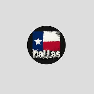 Dallas Grunge Flag Mini Button