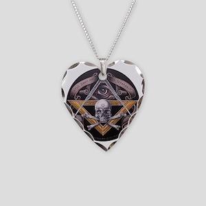 Virtus Junxit Mors Non Sepera Necklace Heart Charm