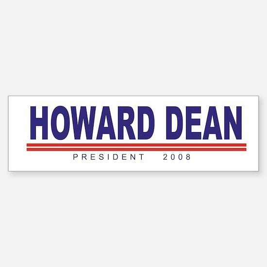 Howard Dean (simple) Bumper Bumper Bumper Sticker