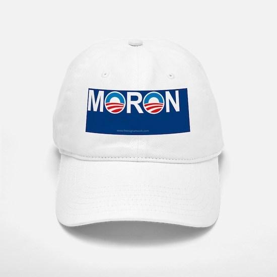 5x3oval_moron Baseball Baseball Cap