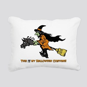 Halloween Witch Costume Rectangular Canvas Pillow