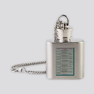 Human bacterial pathogens 3 Flask Necklace