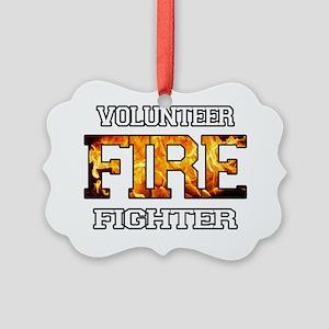 volunteer firefighter 2 Picture Ornament