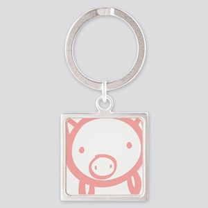 pig Square Keychain