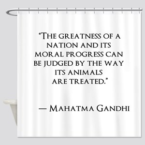 Gandhi Quote Shower Curtain