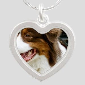 REDTRACTORFRAMEDPRINTLARGE Silver Heart Necklace