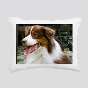 REDTRACTORFRAMEDPRINTLAR Rectangular Canvas Pillow