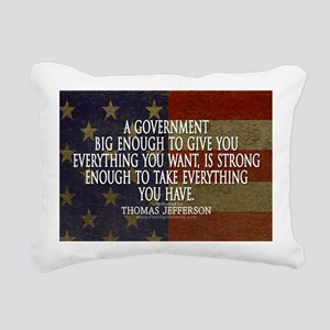 Big Government Quote Rectangular Canvas Pillow