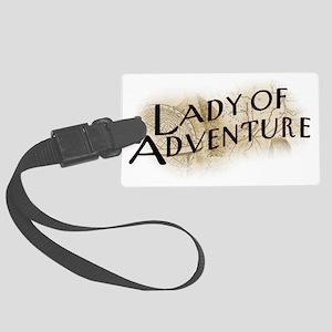 lady-of-adventure_light-t Large Luggage Tag