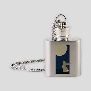 rabbit moon Flask Necklace