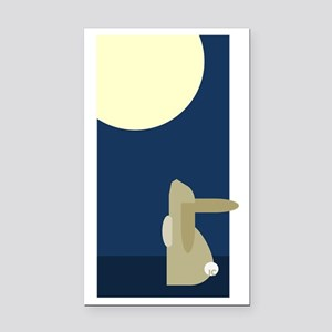 rabbit moon Rectangle Car Magnet