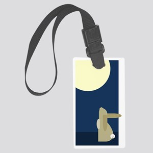 rabbit moon Large Luggage Tag