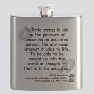 Hamilton Educated Quote Flask